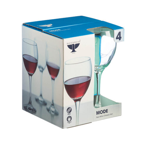 Mode Red Wine Glasses 4 Piece