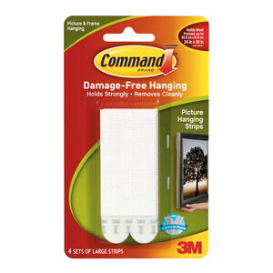 Command 4Pk Large Picture Hanging Strips