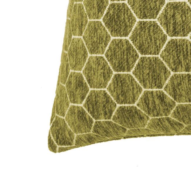 Honeycomb Cushion 58x58cm - Olive Green