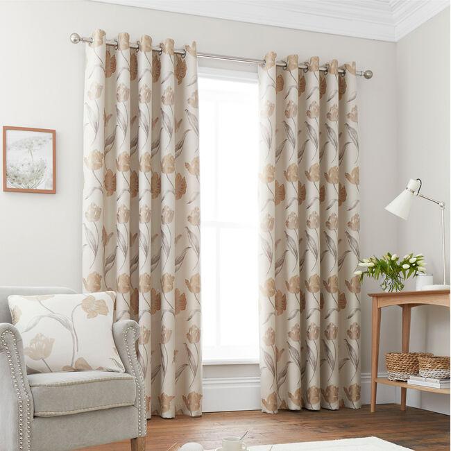 TULIP NATURAL 66x54 Curtain
