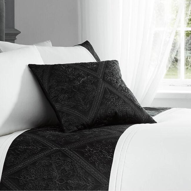 Lucy Ann Black Cushion 45cm x 45cm