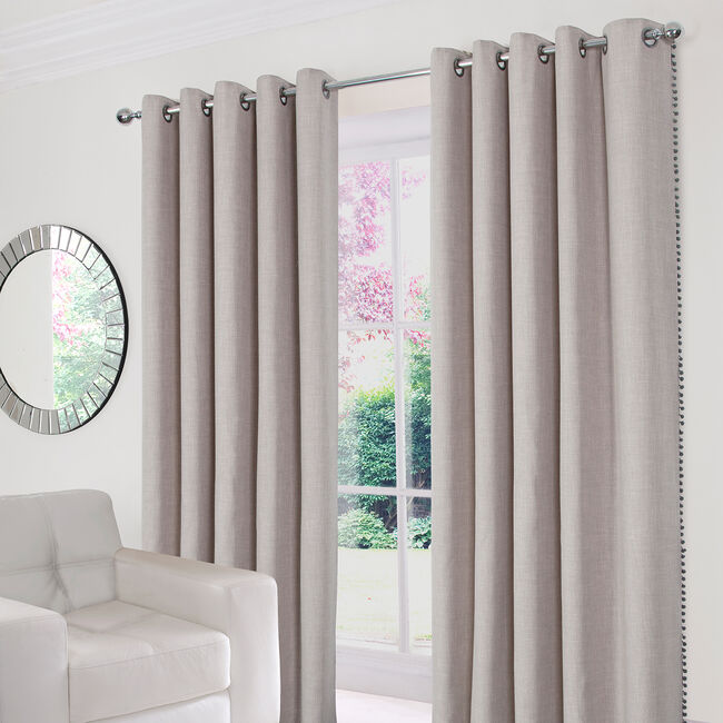 POM POM NATURAL 66x90 Curtain