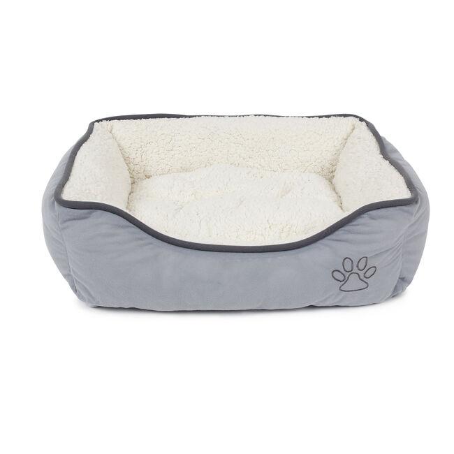 Grey Fleece Pet Bed Small