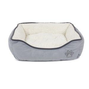 Grey Fleece Small Pet Bed