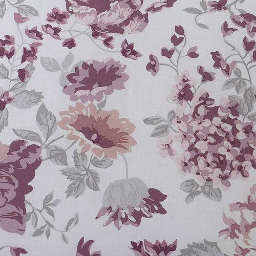 Nichola Oxford Pillowcase Pair - Grey/Pink