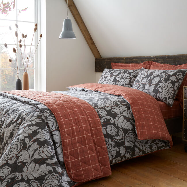 DOUBLE DUVET COVER Brushed Cotton Aine Terra