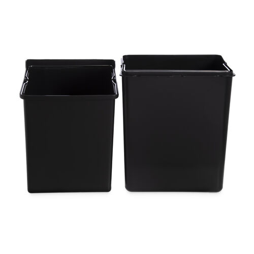Double Recycle Bin 34L Stacked - Stainless Steel