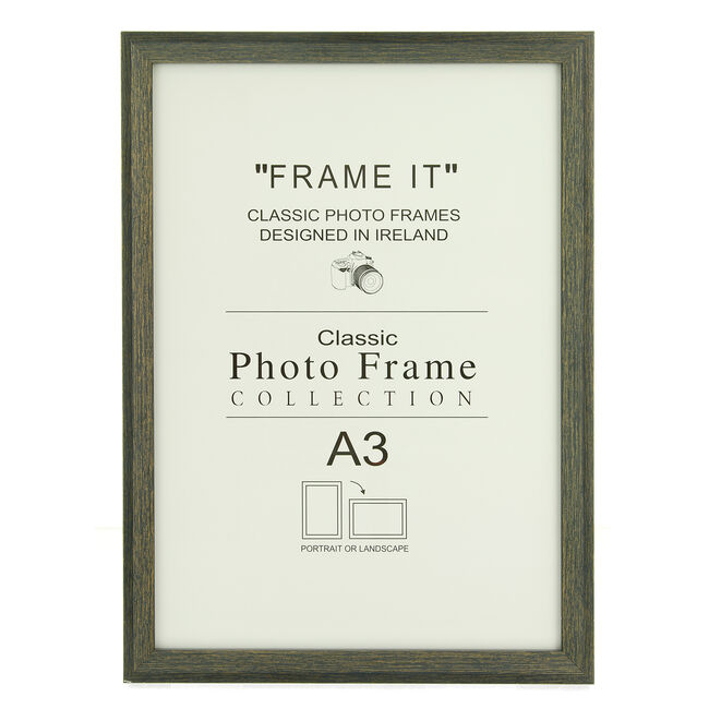 "Aged Dark Photo Frame 12x16"" (A3)"