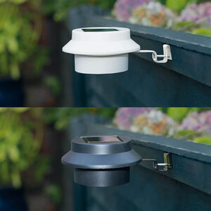 4 Solar Gutter/Fence Downlights