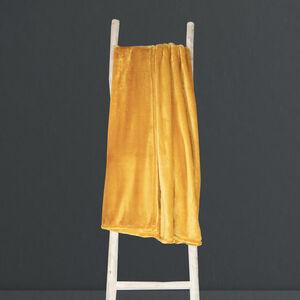 Ruane Plush Velvet Throw 150 x 200cm - Ochre