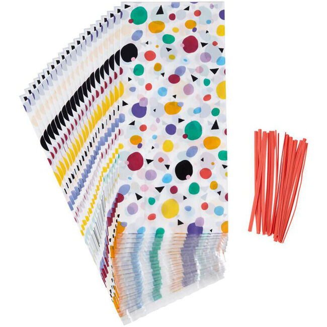 Wilton Polka Dot and Triangle Treat Bags - 20 Pack