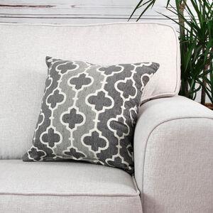 Mairead Trellis Terra Grey Cushion 45cm x 45cm