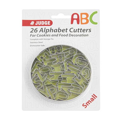 Judge Small Alphabet Cutters