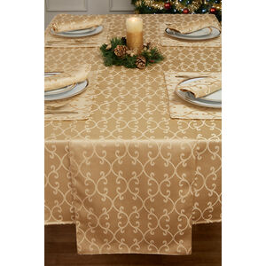 Scroll Table Cloth Gold 229 x 40cm