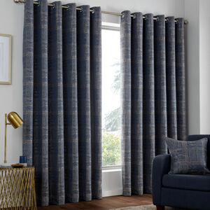 AZURE NAVY 66x54 Curtain