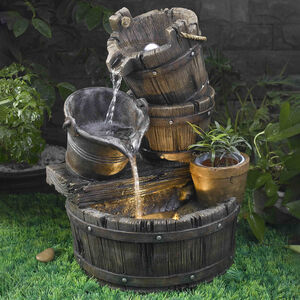 Rustic Pots Water Fountain