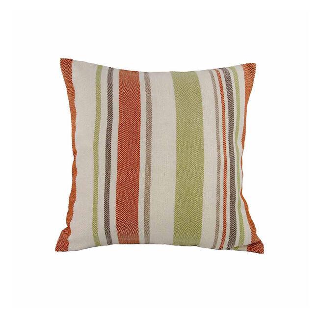 Fleming Stripe Terra/Green Cushion