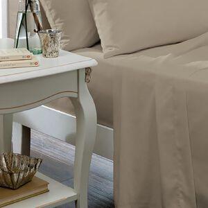 SINGLE FLAT SHEET Luxury  Percale Natural