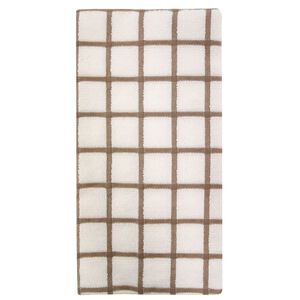 Multi Check Tea Towel - Mocha