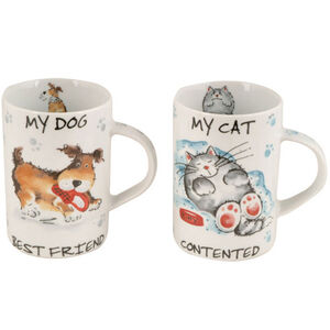 Contented Pets Porcelain Mugs