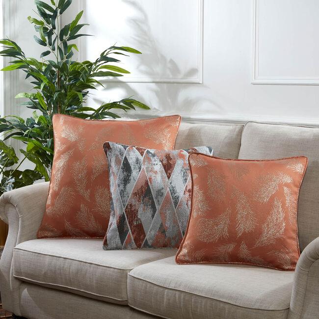 Forest Leaf Cushion 45 x 45cm - Rust