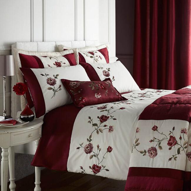 Antique Rose Red Pillowsham 50cm x 75cm