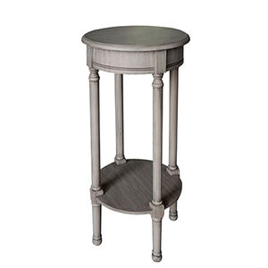 Laurette Round Accent Table 38X38X72CM Grey