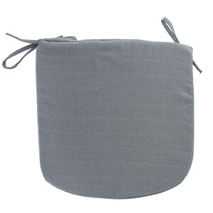 Woven Ice Grey Kitchen Seat Pad