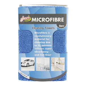 Terry Cloth Microfibre Cleaning Set 3 Pack