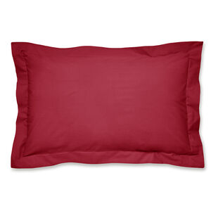 Luxury Percale Red Oxford Pillowcase Pair