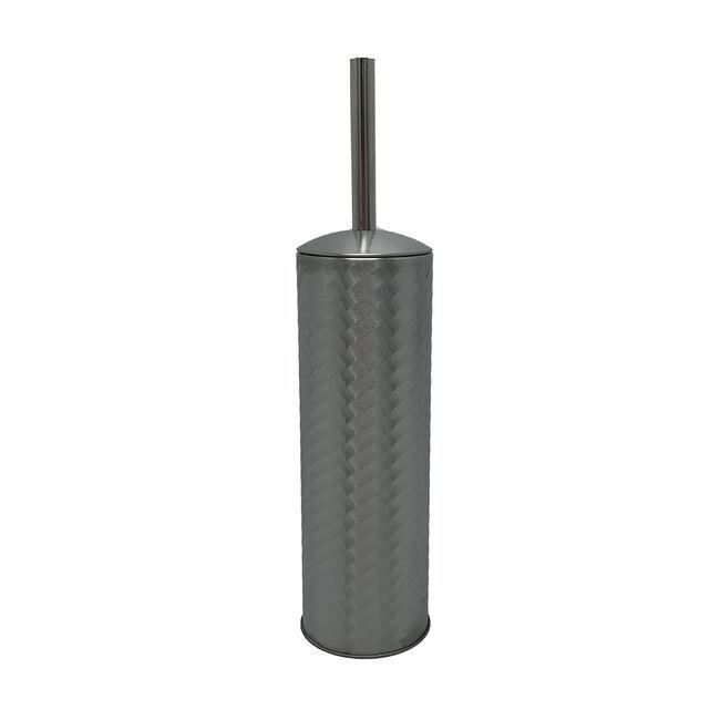 Spiral Embossed Toilet Brush - Stainless Steel