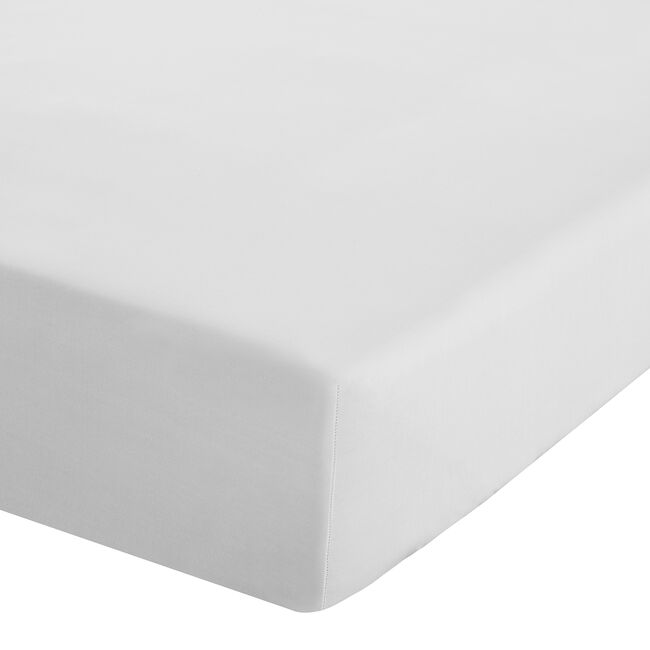SUPER KING FITTED SHEET Luxury Percale White