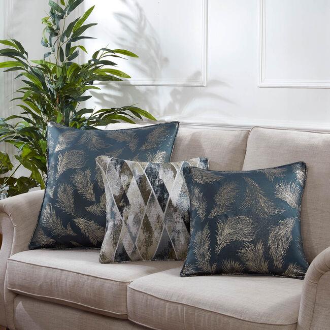 Forest Leaf Cushion 58 x 58cm - Green