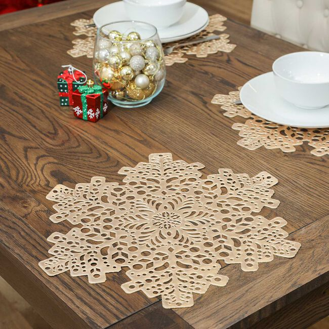Snowflake Placemat - Gold