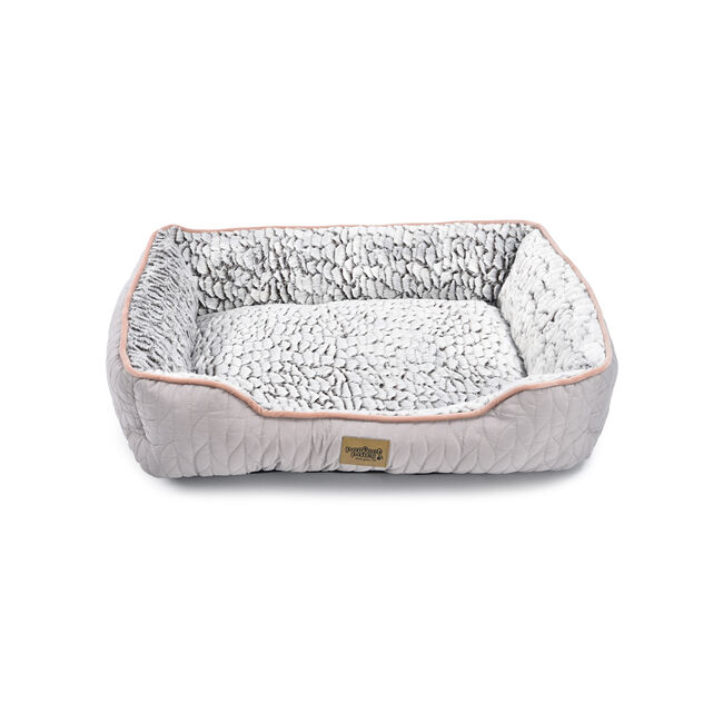 Quilted Soft Fleece Pet Bed Small