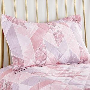 Marbled Geo Blush Pillowshams 50cm x 75cm