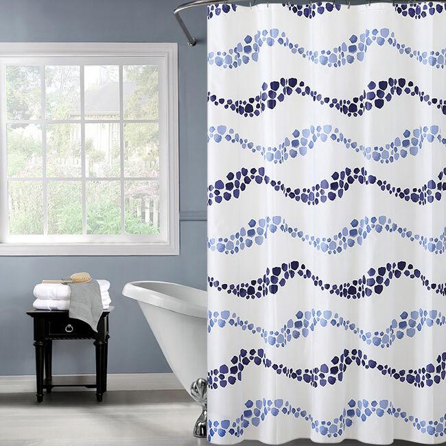 Peva Wave Shower Curtain