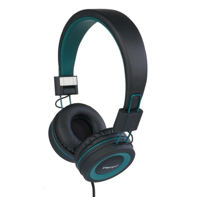 Intempo Vivid Black/Green Headphones