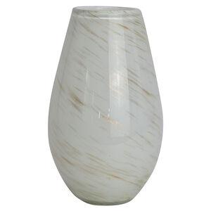 Cashel Living Glass White and Gold Vase