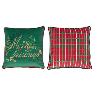 Holly & Ivy Cushion Covers 45 x 45cm - 2 Pack