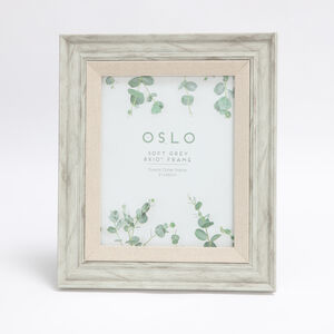 Oslo Soft Grey Photo Frame 8x10""