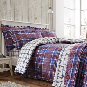 Brushed Cotton Gavin Check Duvet Cover