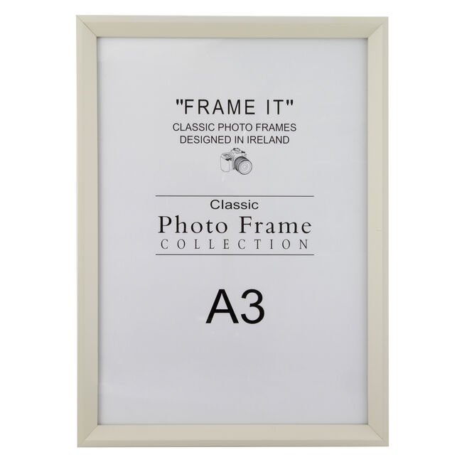 A3 Slim Cream Photo Frame