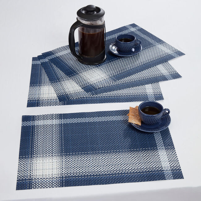 Check Placemat - Navy