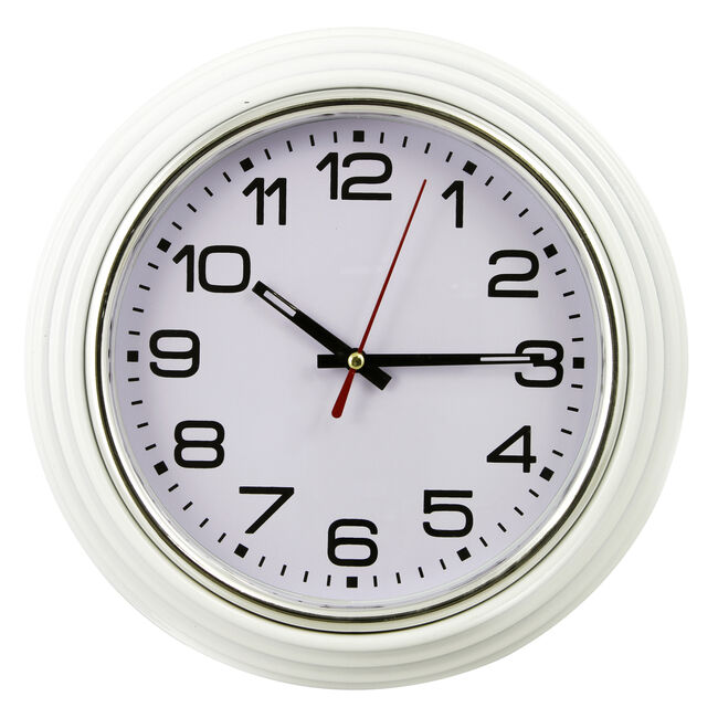 White Wall Clock 10""