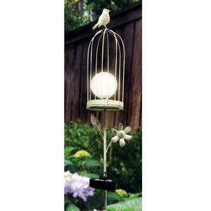 Birdcage Solar Garden Stake