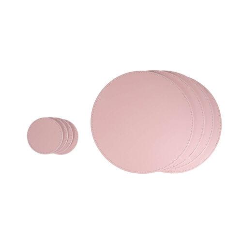 Reversible Round Coasters 4 Pack - Grey & Blush