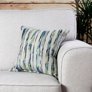 Aoife Striped Lime Cushion 45cm x 45cm