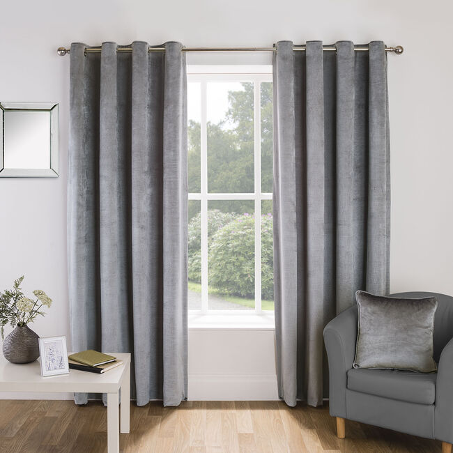 EMBOSSED SILVER 66x54 Curtain
