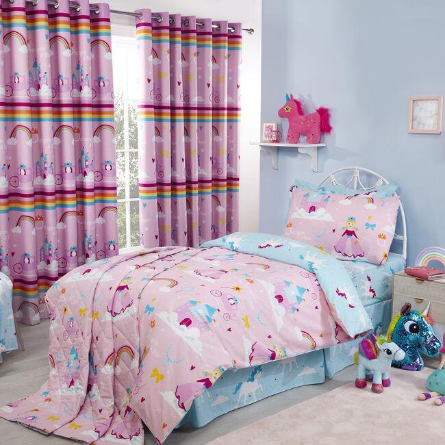 JUNIOR BED DUVET COVER Princess Dreamland